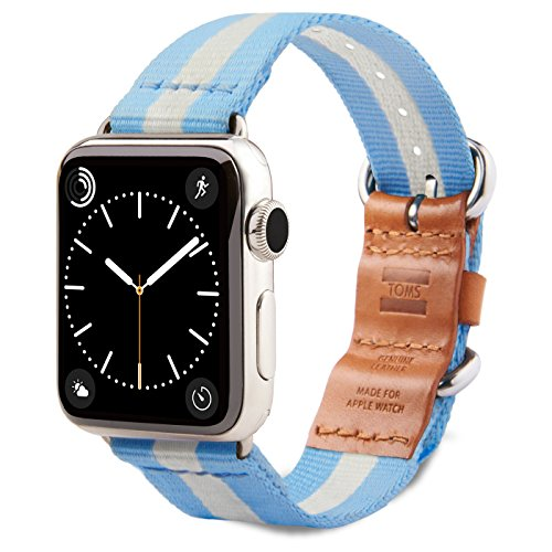 TOMS Apple Watch Band (Blue/White Stripe, 42mm)