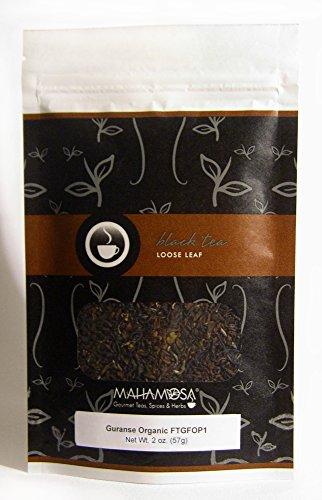 Mahamosa Nepal Black Tea Loose Leaf (Looseleaf)- Guranse Organic FTGFOP1 2 oz, Single Estate Loose Black Tea