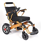 Electric Wheelchair Folding Lightweight 60 lbs w/Battery Supports 360 lbs Aircraft Grade Aluminum Alloy Frame Strength New Upgraded w/More Secure and Stable, FDA Approved (Seat Width 19.5