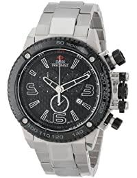 Men's SP13246 Forge Pro Black Dial with Silver Stainless Steel Band Watch