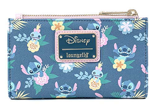 Loungefly Disney Stitch and Scrump Floral Bi-Fold Wallet