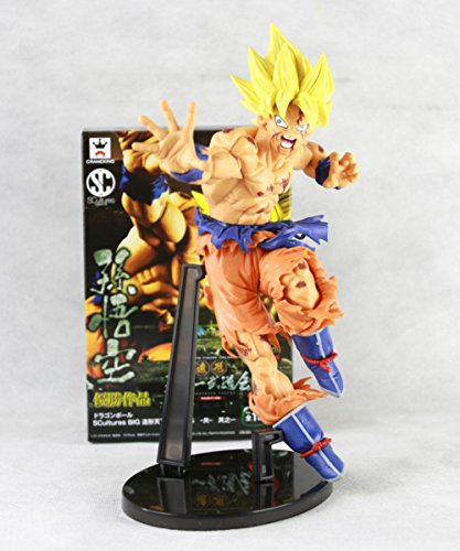 [Akira Toriyama Dragon Ball Z Super Saiyan Son Goku Gokou Battle Banpresto SCultures Big Budoukai 5 Action Figure] (Dragon Ball Costume With Tail)