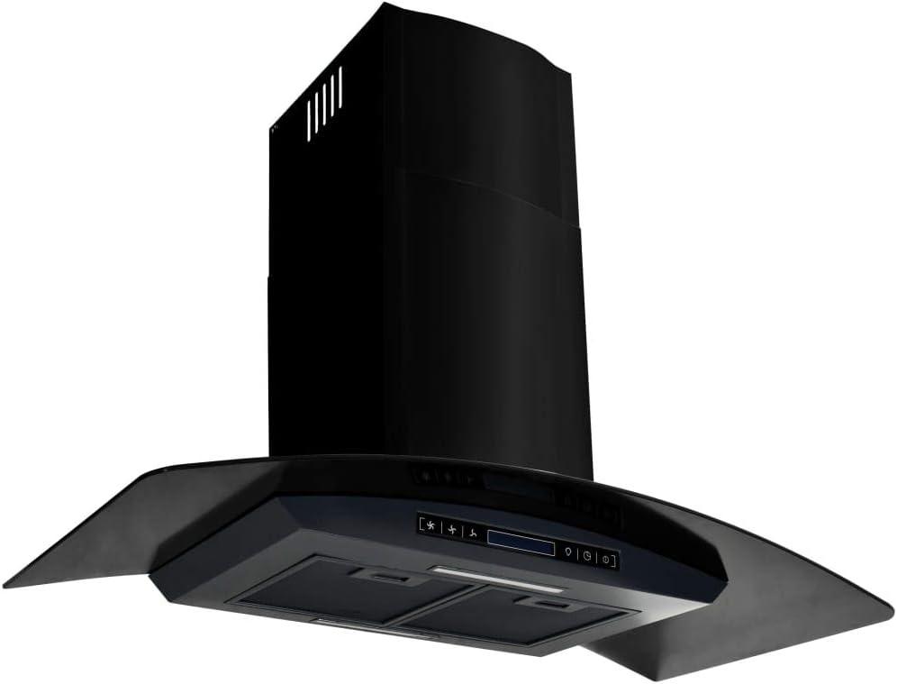 vidaXL Campana Extractora Pared 90cm Negro Electrodoméstico Ventilador Cocina: Amazon.es: Grandes electrodomésticos