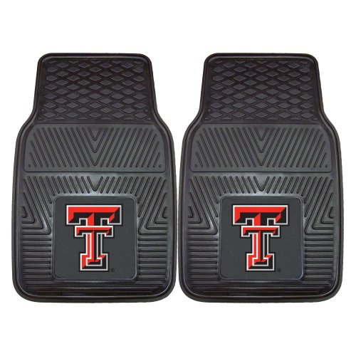 Fanmats NCAA Texas Tech University Red Raiders Vinyl Heavy Duty Car (Texas Tech Red Raiders Floor)