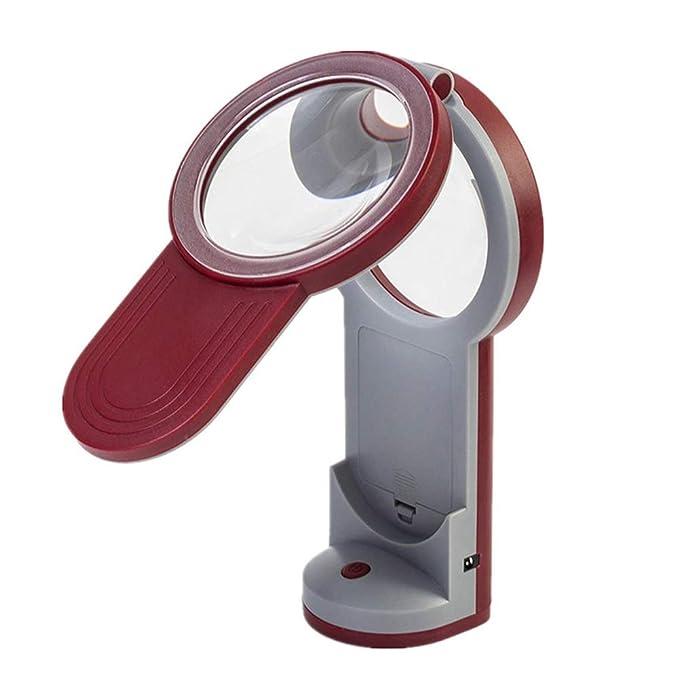 WOAIWOJIA 3X 4.5X 6X Lupa - Lámpara De Mesa Y Escritorio con Luz Led Ultrabrillante De Ahorro De Energía, Gran Lupa Manos Libres para Leer, Hobbies, ...