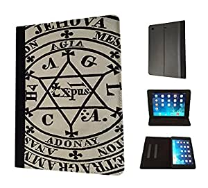743 - Pentacle of Solomon Design Fashion Trend TPU Leather Flip Case For Apple iPad 2 ipad 3 ipad 4 Full Case Flip TPU Leather Purse Pouch Defender Stand Cover
