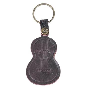 kingpoint piel llavero instrumento musical con forma de ...