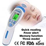 Digital Infrared Forehead Thermometer Non-Contact Infrared Digital Thermometer(Forehead tem/Body/Room),Better Accuracy For Baby Infant Toddler and Adults with FDA and CE approved