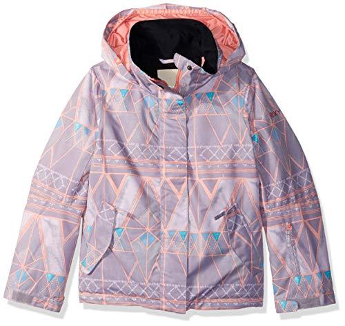 - Roxy Little Jetty Girl Snow Jacket, Minimal Grey_Mosaic, 8/S