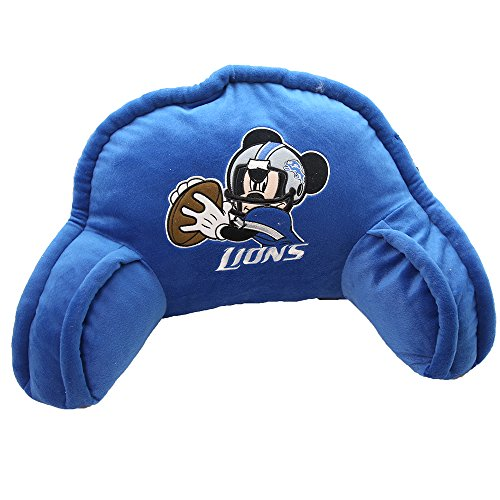 NFL Detroit Lions Mickey Mouse Plush 12-Inch-by-20-Inch Embroidered Bed Rest Pillow