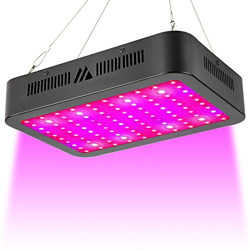 LED Grow Light, 1000W Triple Chips Full Spectrum LED Grow Lamp with UV&IR and Double Cooling Fans for All Growing Phases of Indoor Veg and Flower(100PCs 10W LEDs) by MAYGROW