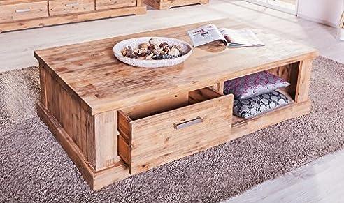 Couchtisch Colorado Akazie Massiv Holz Wohnzimmertisch Beistelltisch Tisch