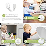 Skyla Homes - Cabinet Locks Child Safety (12 Pack), The Safest, Quickest and Easiest 3M Adhesive Baby Proofing Latches, No Screws or Magnets, Multi-Purpose for Furniture, Kitchen, Ovens, Toilet Seats