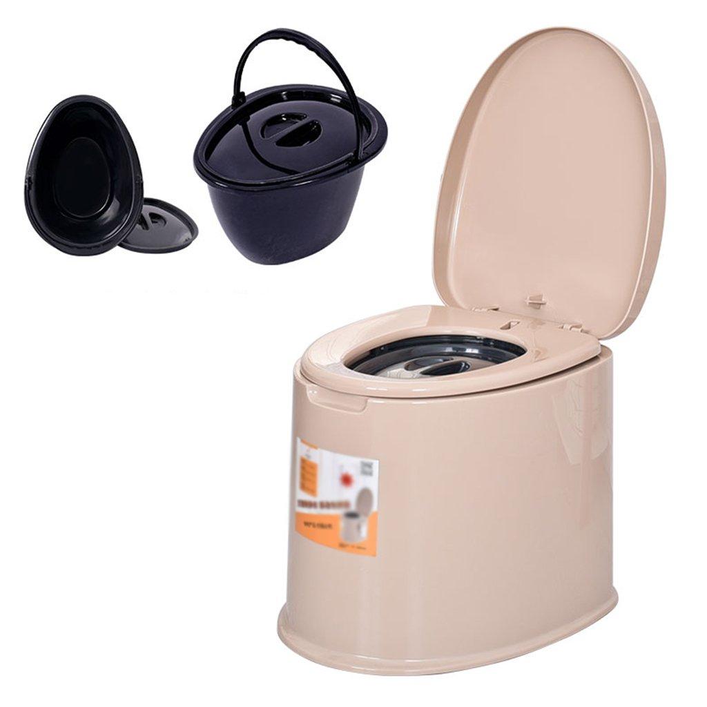 携帯用トイレプラスチック製トイレモバイルトイレはキャンプなどの屋外活動に適しています (色 : ブラウン ぶらうん) B07CXQ9T5K  ブラウン ぶらうん
