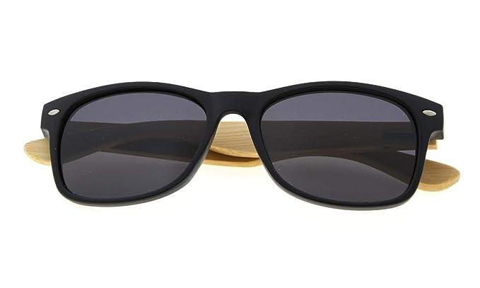 Eyekepper bisagras de resorte de calidad brazos de Bambu madera clasicos gafas de sol polarizadas de