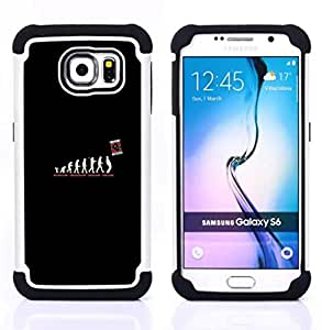 GIFT CHOICE / Defensor Cubierta de protección completa Flexible TPU Silicona + Duro PC Estuche protector Cáscara Funda Caso / Combo Case for Samsung Galaxy S6 SM-G920 // Human Evolution //