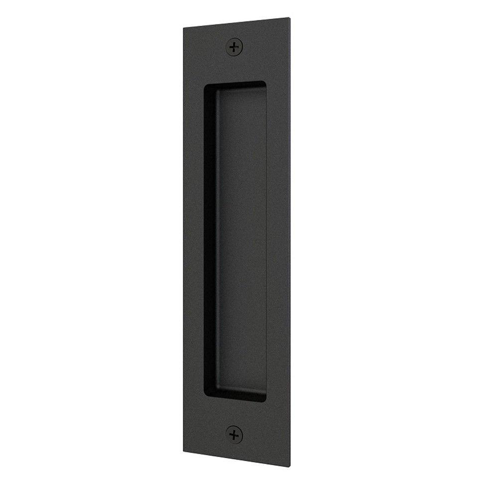 Matte Black Side Mount Inset Handle Finger Pull for Wood Door