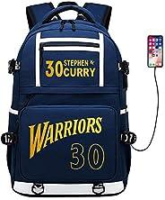 Basketball Player Star Curry Multifunction Backpack Travel Student Backpack Fans Bookbag for Men Women Kids