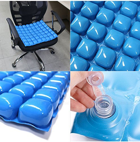 Air Water Mosaic Cushion Wheelchair Driver Car Cushion Office Chair Seat Cushion (40 x 42 x 3 cm)