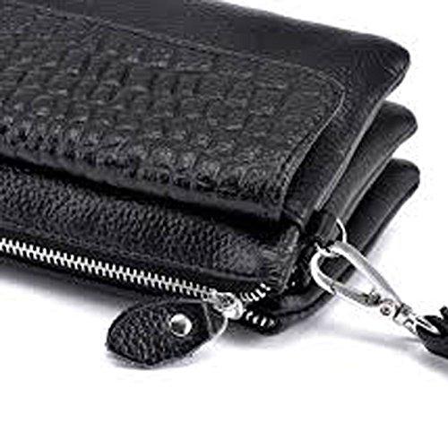 D9Q Neue Mode PU Tasche Wristlet Ledertasche mit Schlaufe Tag Kupplungen Schultertaschen !!Blau