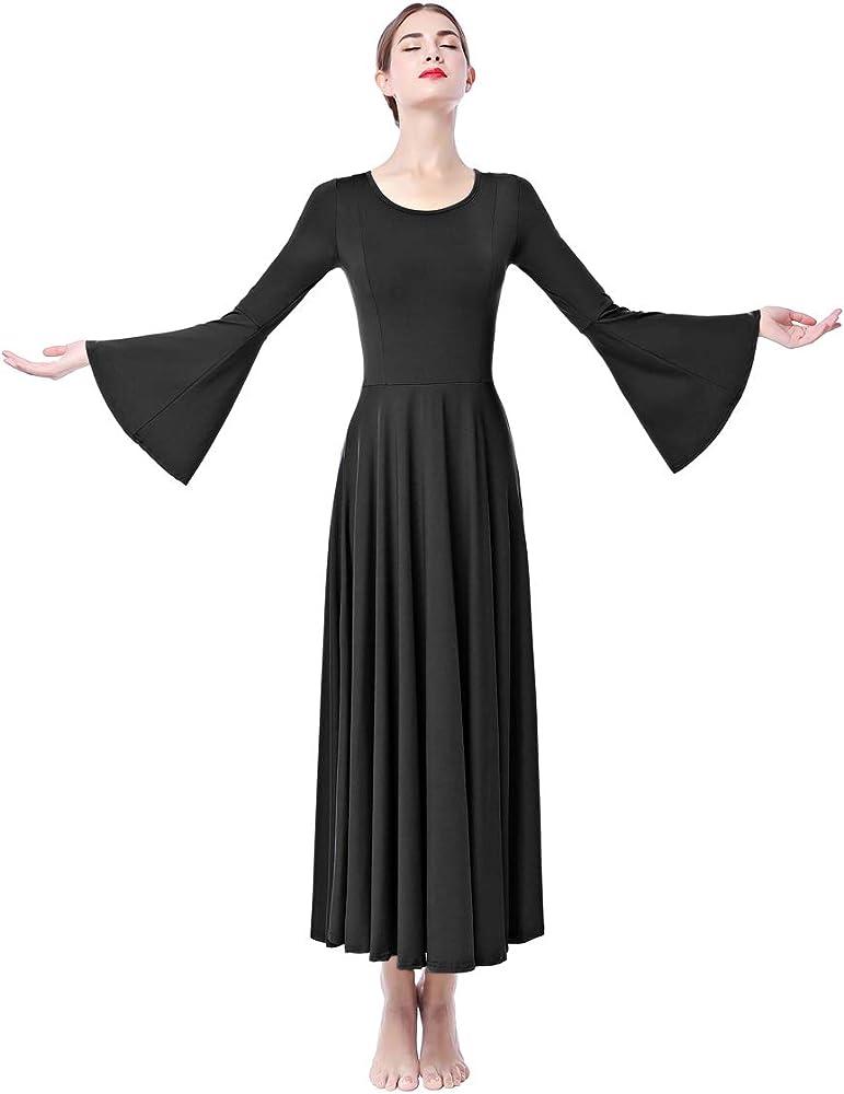 IWEMEK Mujer Vestido de Praise adoración Danza Vestido de Alabanza ...