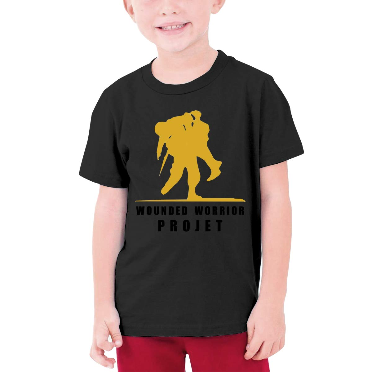 Alffe Wounded Warrior Project T-Shirt Boy Kids O-Neck 3D Printing Youth Fashion Tops