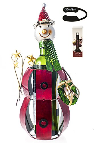 Snowman Wine Bottle Holder ,With a Wine Foil Cutter and a Wine (Snowman Wine Stopper)