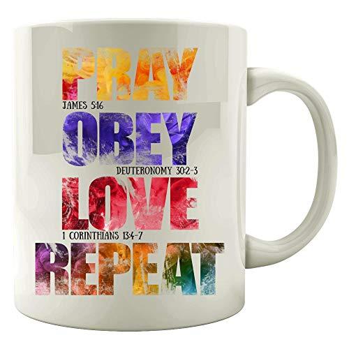 Faith Treasure By Love (Pray Obey Love Repeat - Mug)