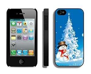 2014 Latest Christmas snowman iPhone 4 4S Case 13 Black
