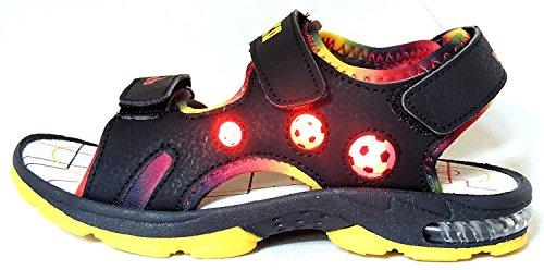 Lico Spotlight V Blinky Jungen Kinderschuh Sandale Klettverschluss Schwarz Blinklicht Freizeitschuh Sommerschuh Schwarz