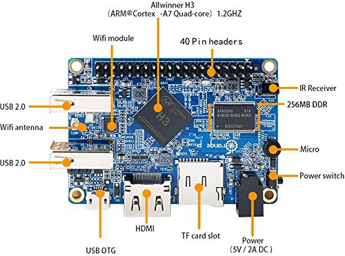 LoveRPi Orange Pi Lite Single Board Computer with Quad Core 1.2GHz ARMv7 512MB DDR3 WiFi by LoveRPi (Image #5)
