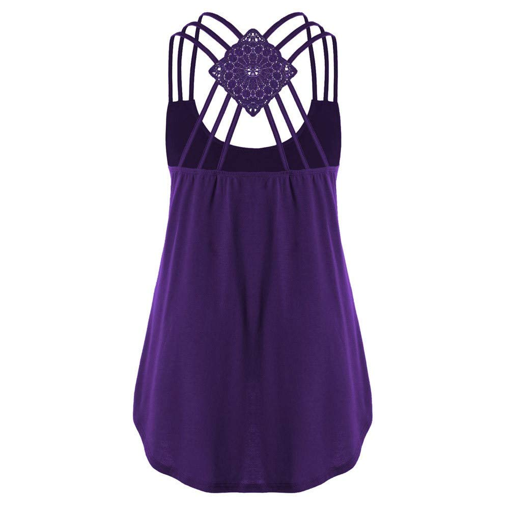 Camisoles for Women,WANQUIY Basic Solid Crisscross Cold Shoulder Layering Cami Tank Tops