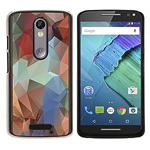 Stuss Case / Funda Carcasa protectora - Polígono Colores - Motorola Moto X3 3rd Generation