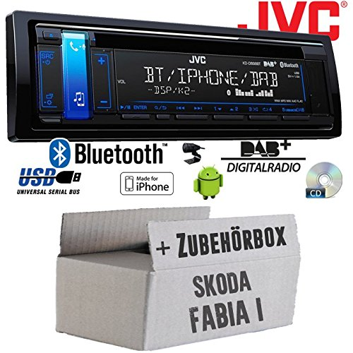 Skoda Fabia 1 - JVC KD-DB98BT - Bluetooth | DAB+ | CD | MP3 | USB | Android | iPhone Autoradio - Einbauset JUST SOUND best choice for caraudio