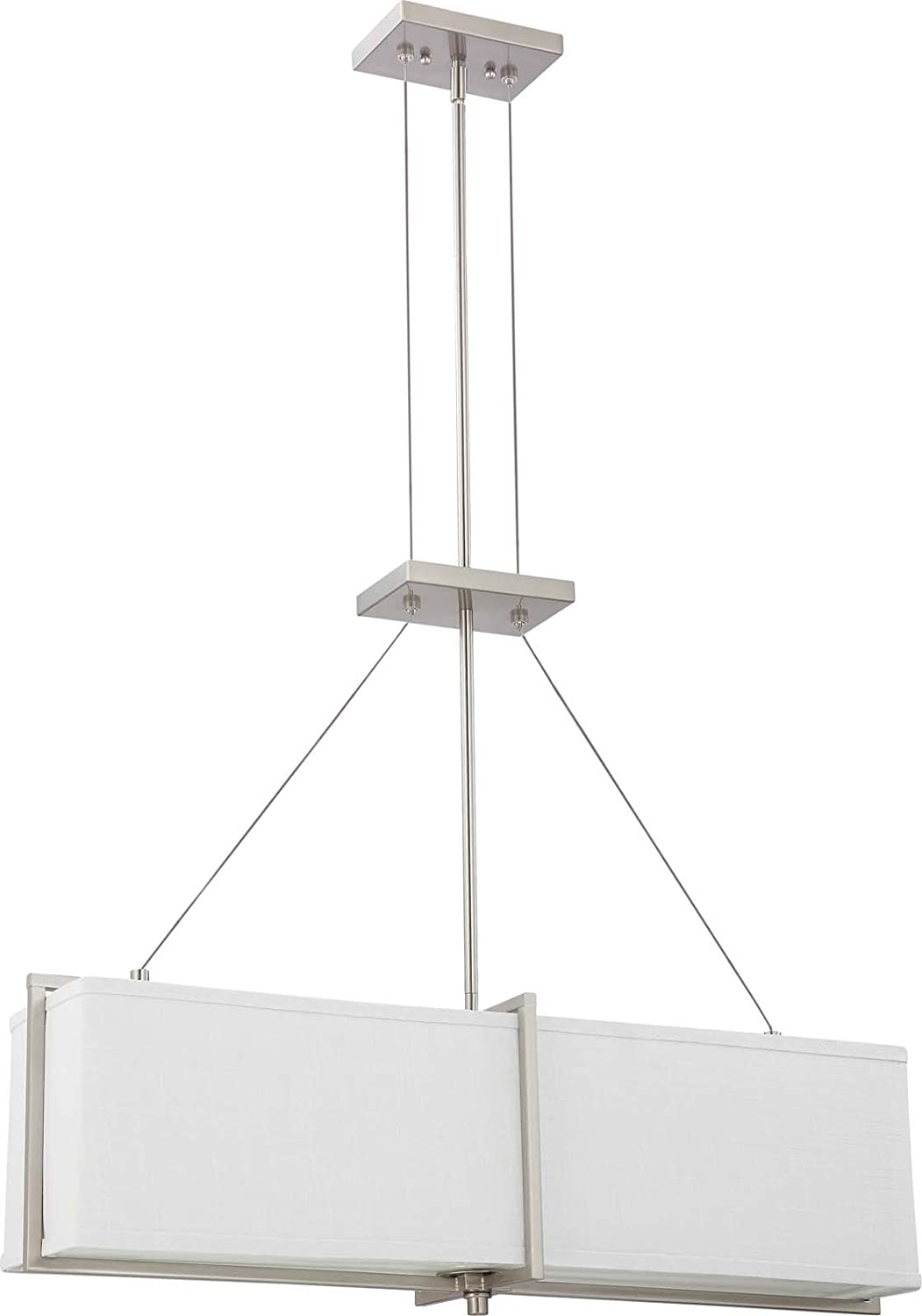 contemporary 9 helius lighting. Nuvo Lighting 60/4505 Four Light Logan Pendant With Slate Gray Fabric Shade/Frosted Diffuser, Brushed Nickel - Ceiling Fixtures Amazon.com Contemporary 9 Helius B