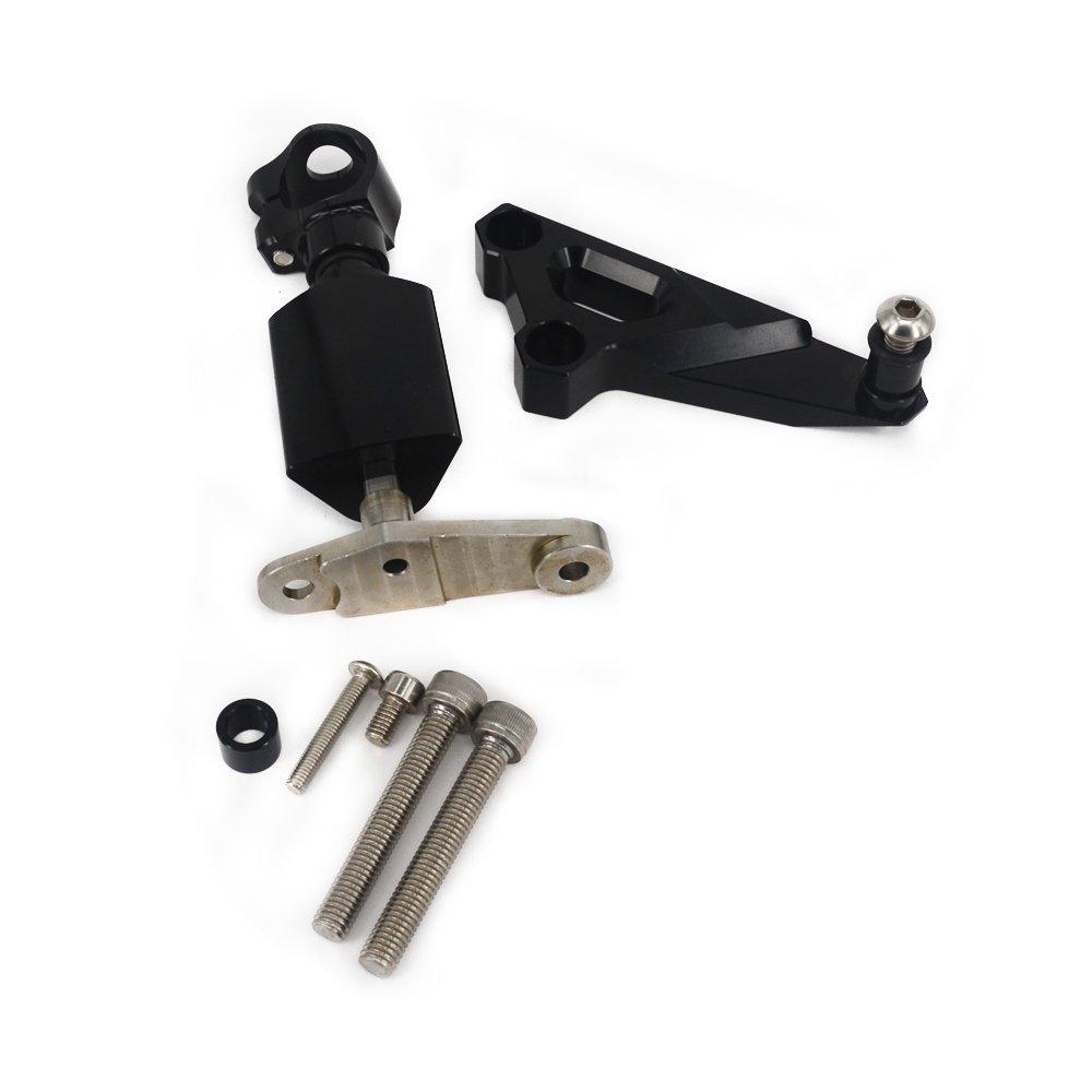 Fast Pro Motorcycle CNC Adjustable Steering Damper /& Bracket Mounting Kit For Honda CB1300 2003-2011