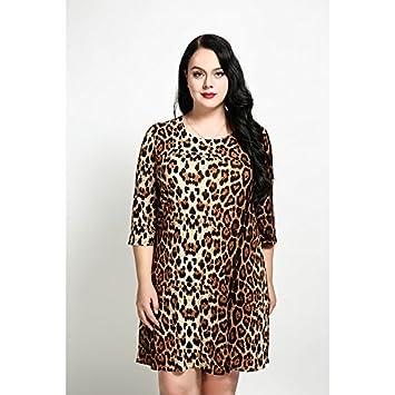 44cd5ea98 kekafu Cute ANN Mujer Casual Plus Size Diario Sexy Vintage una línea Simple  Vestido Suelto