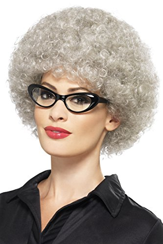 [Smiffy's Women's Granny Perm Wig, Grey, One Size] (Perm Wigs)
