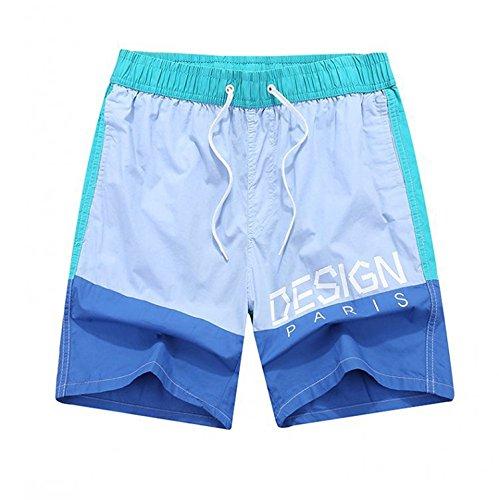New Summer Five Shorts Men's Beach Pants Shorts Printed Couple surf Pants,2XBig,Lakeblue by LeNG shorts