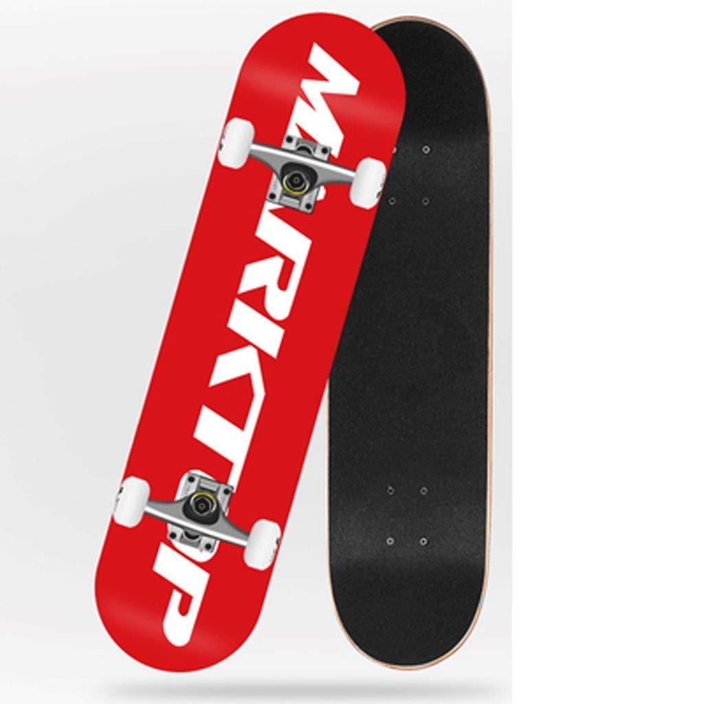 Skateboard Erwachsene Mädchen Straße Vier Runden Runden Runden Bilaterales geneigtes Skateboard Anfänger Kinder Jungen Schritt B07Q16GKNZ Longboards Wartungsfähigkeit 8599ca