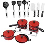 Set Plastic Chef Kitchen Cookware Food Pretend Play Toys for Kids Children