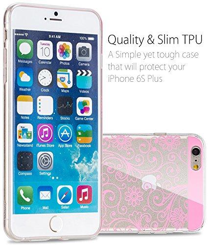 """Fosmon Apple iPhone 6 / iPhone 6s coque - [DURA-FLOWER] Couvercle de protection Slim-Fit Case coke de Case pour Apple iPhone 6 / iPhone 6s 4.7"""" (Rose) - Fosmon conditionnement"""