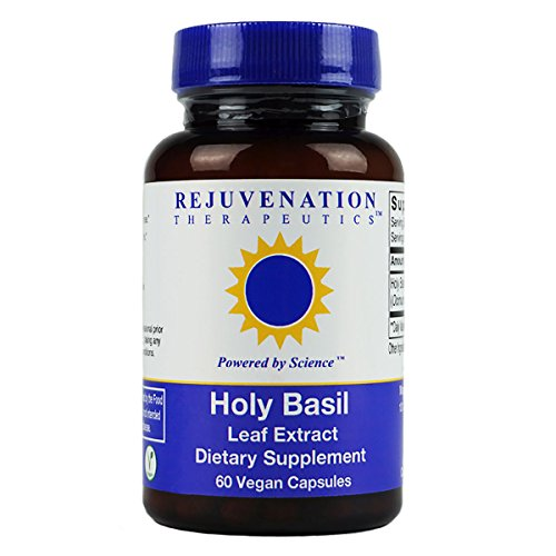 Rejuvenation Therapeutics - Holy Basil Leaf Extract, Supports Healthy Stress Response and Antioxidant Protection (60 Vegan Capsules, ()