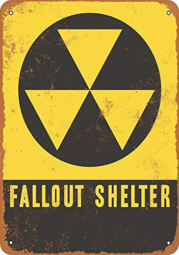 Fallout Shelter Sign - FDerks Decoration 12 X 16 Inches