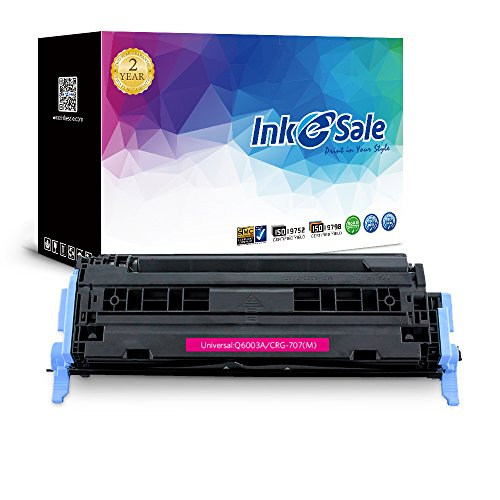 INK E-SALE 124A Q6003A Toner Cartridge Compatible For HP Color LaserJet 1600 2600n 2605dn 2605dtn CM1015 CM1017 Printer Series (Magenta (Q6003a Compatible Magenta Laser)