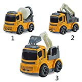 Tickles JCB Construction Vehicle Truck Toys (Set Of 3) 12 Cm - Yellow