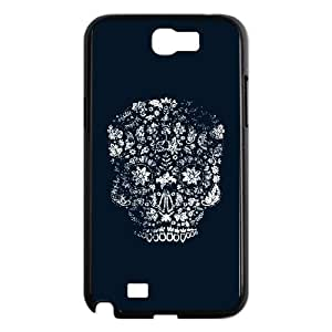 Samsung Galaxy N2 7100 Cell Phone Case Black Distressed Day of the Dead Skull PHF Hard Plastic Case