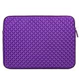 Evecase Diamond Foam Splash Neoprene Sleeve Laptop / PC / Ultrabook Case Bag for Lenovo G50/ G51, IdeaPad 15.6-Inch Laptop - Purple