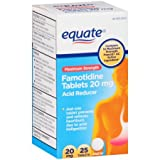 Maximum Strength Famotidine Acid Reducer Tablets 20mg 25ct by Equate, Compare to Pepcid AC