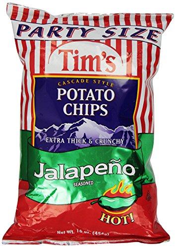 Tim's Cascade Style Potato Chips, Jalapeno, 16 Ounce (Low Chips Salt Potato)